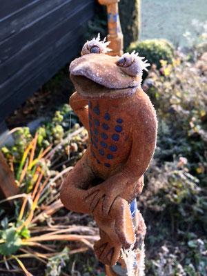 Keramik handmodelliert, Frosch