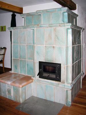 Keramik Kachelofen mit Ofentür von Brunner