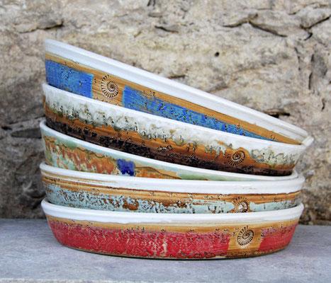 Keramik Tarteform ø ca. 30 cm  H ca. 4,5 cm in verschiedenen Dekoren