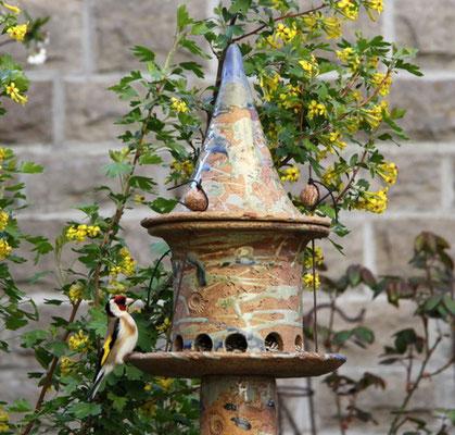Keramik Vogelfutterhaus Dekor Neuseeland
