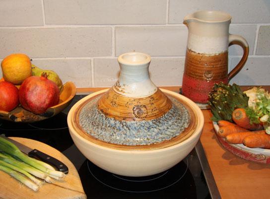 Keramik, Tajine Dekor Camargue
