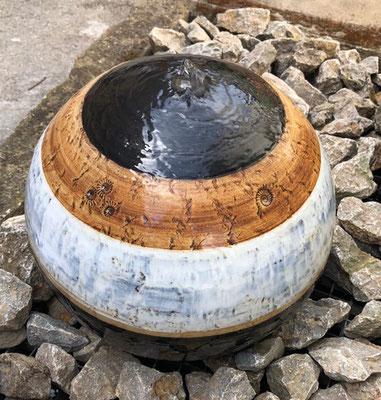 Keramik Kugel ø ca. 35 cm Dekor Schiefer