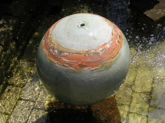 Keramik Brunnen, frostfest Wasserkugel ø ca. 50 cm Neuseeland Dekor