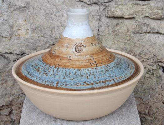 Keramik, Tajine, Dekor Camargue