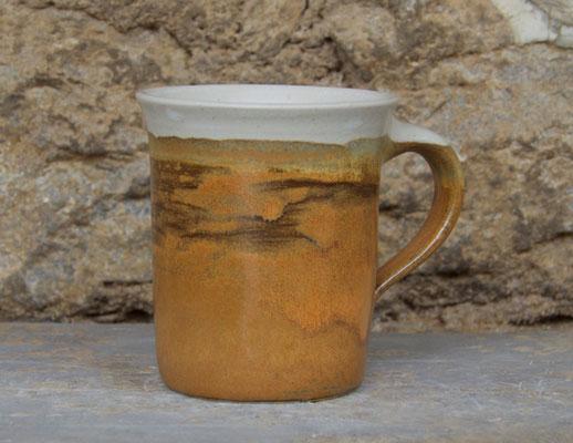 Keramik Tasse zylindrisch HerbstwaldKeramik , H ca. 10 cm ø oben ca. 9,5 cm