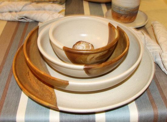 Keramik Speisegedeck Herbstwald