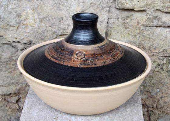 Keramik, Tajine, Dekor Schiefer