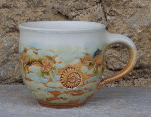 Keramik Tassen ca. h 9 cm ø 9 cm, Dekor Neuseeland