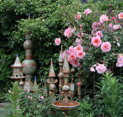 Gartenkeramik in Dekor Neuseeland