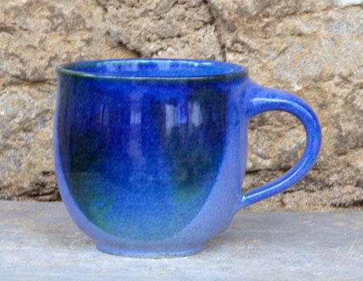 Keramik Tassen ca. h 9 cm ø 9 cm, Dekor Blick ins Meer