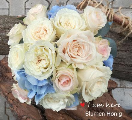 Brautstrauß in zarten Pastellfarben