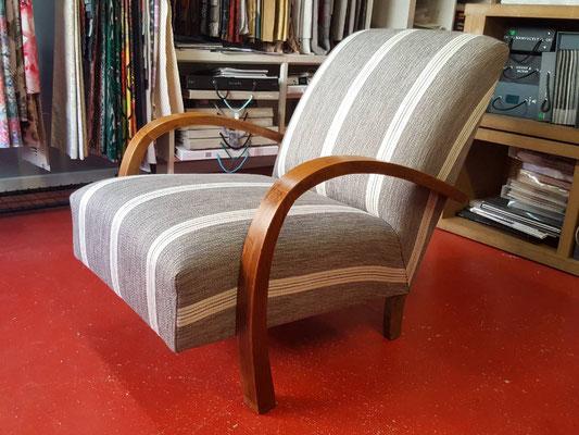 mrylinegrac- tapissier d'ameublement-Fauteuil Art déco rénové