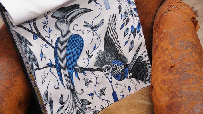"""marylinegrac-tapissier d'ameublement. Tissu d'ameublement CLARKE & CLARKE collection """"Animalia"""" pour chaises et fauteuils"""