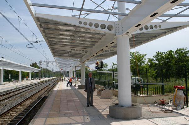 ROMA - Strutture stazione ferroviaria Val D'Ala - RFI