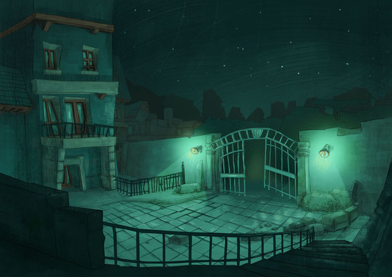 "Illustration made for point and click inspired from ""The night"" of Guy de Maupassant."