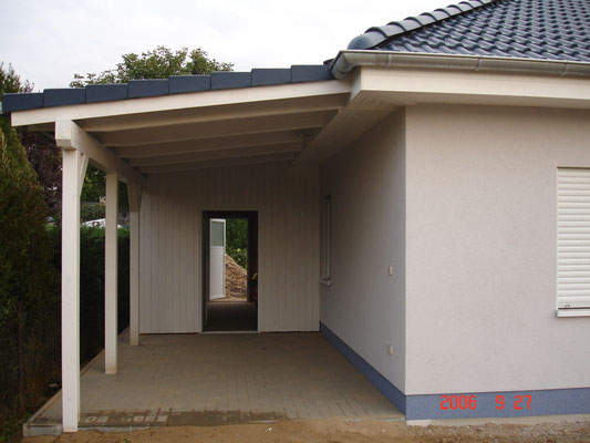 bungalow bq 89 carport bauunternehmen thomas ruff. Black Bedroom Furniture Sets. Home Design Ideas