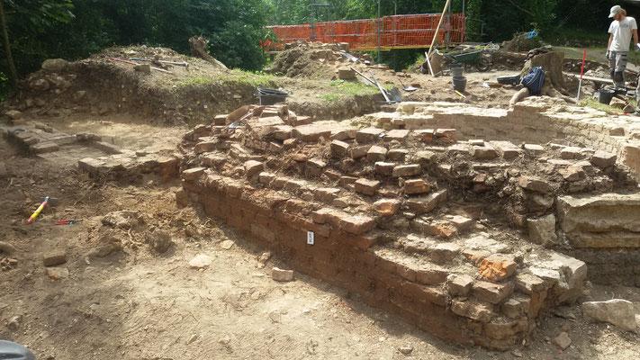 mur nord de la tour octogonale