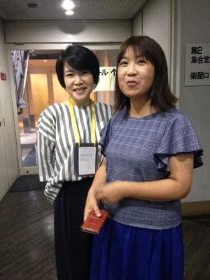 この日のために福島からかけてつけて下さったしんぐるまざあずの遠野馨さん(右)