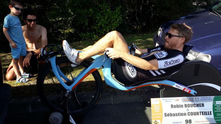 Sébastien et son beau vélo...