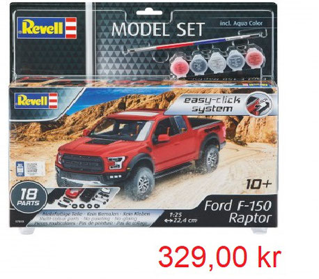 Revell Model Set Ford F-150 Raptor Quick Click