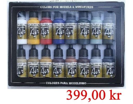 Vallejo Air Set Basic Colors 16