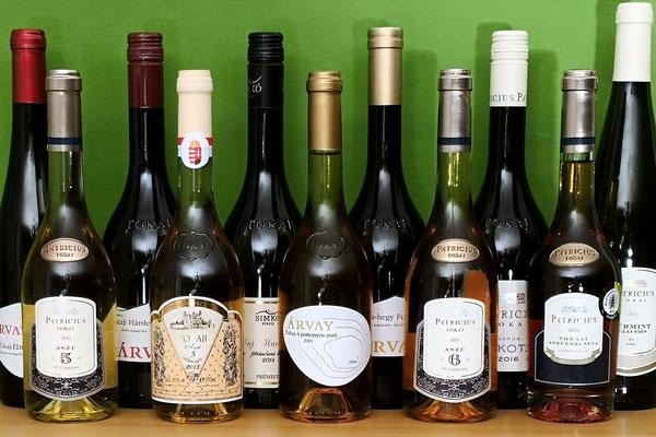 Teilsortiment Weine aus Tokaj