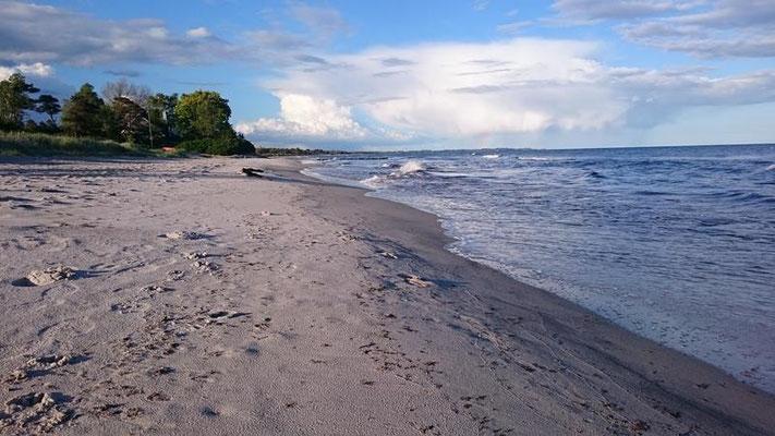 Strand am Campingplatz bei Smygehamn