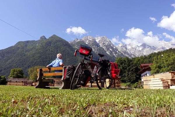 Blick auf die Berchtesgardener Alpen