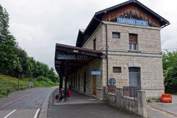Tarvisio, der alte Bahnhof.