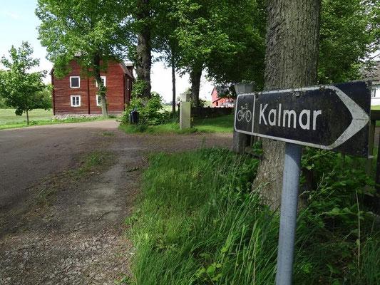 gleich beginnt der Radweg (Bahntrasse) nach Kalmar