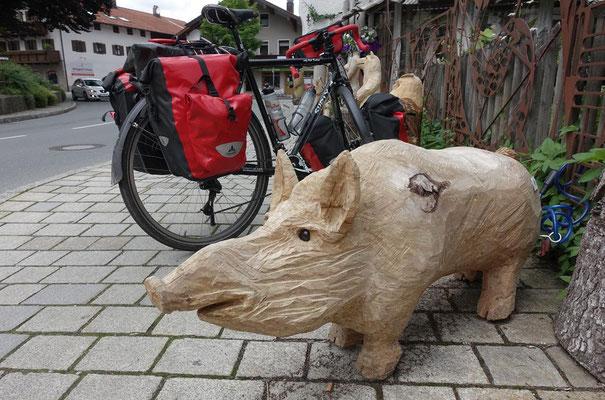 Keiler in Grassau, gottseidank aus Holz !!!