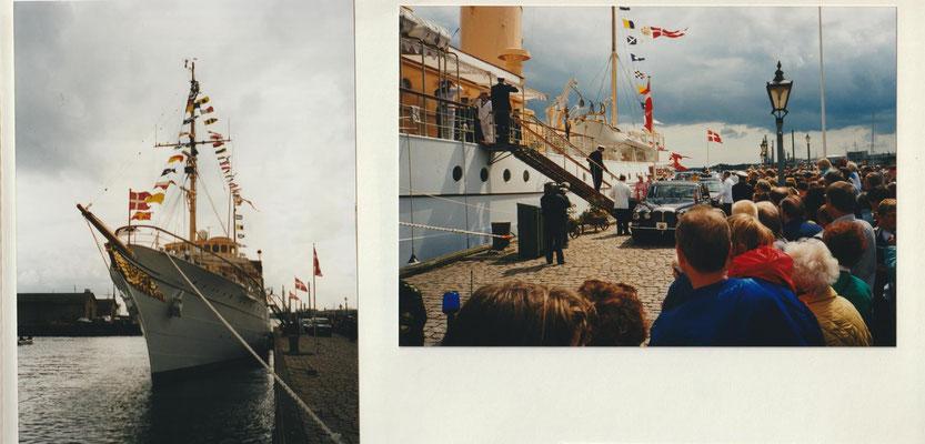 Die Königsyacht Dannebrog in Nyborg