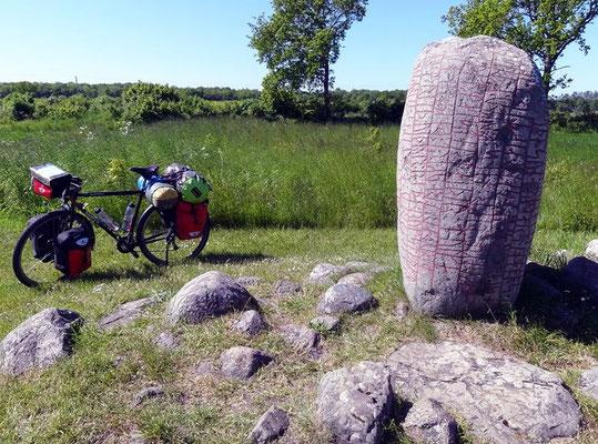 1000 jähriger Runenstein, der Karlevistenen, Mörbylånga, Schweden
