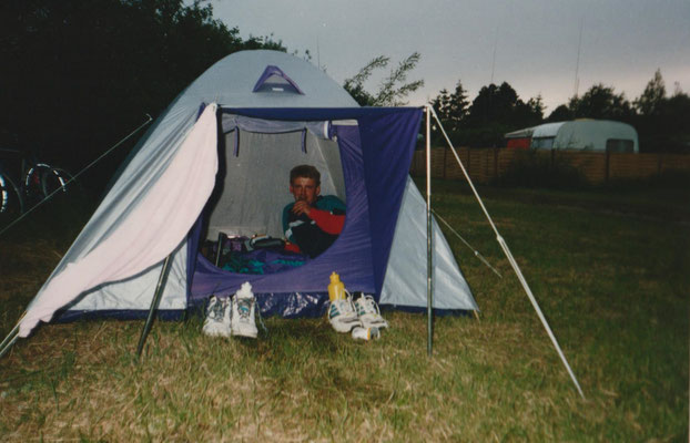 Die erste Zeltnacht in Havneby / Röm