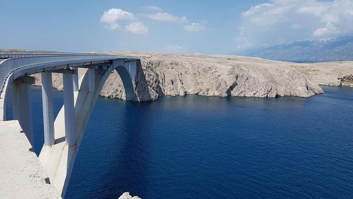 Pag-Brücke   Paški most