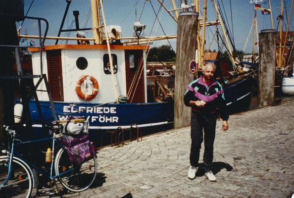 Vor der Elfriede in Wyk auf Föhr