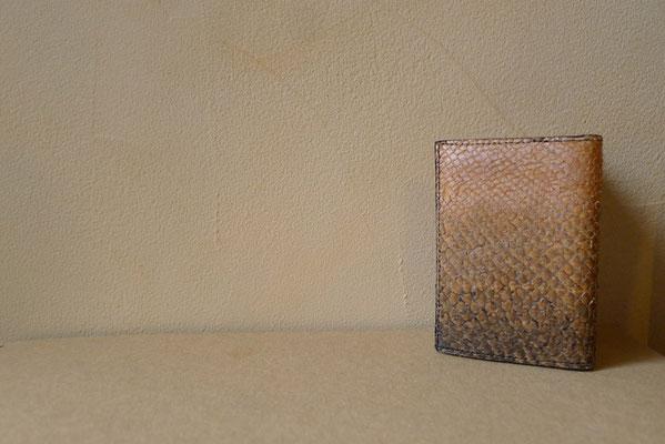 Les cuirs du Vuache Porte-carte en cuir de saumon