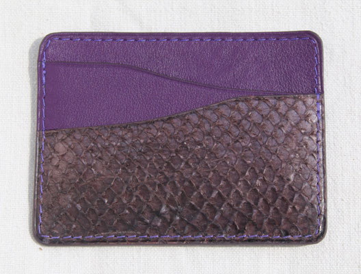BS Maroquinerie Porte-cartes en cuir de poisson