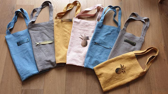 Tote-bags avec motifs en cuir de poisson Mimi peau d'pêche