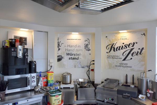 Würstelstand Kaiserzeit - Gips Decke inkl. Dämmung und Dampfbremse, div. Gips Verkleidungen - Foto: © Kaiserzeit