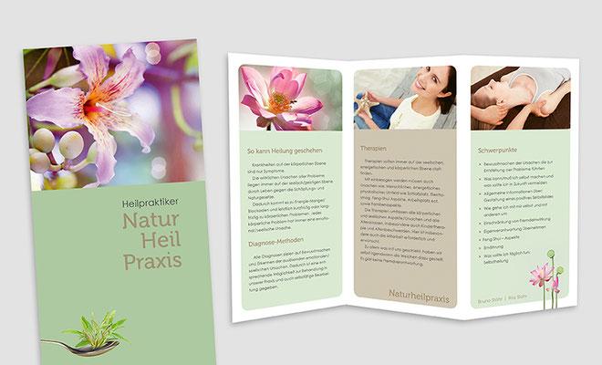 Naturheilpraxis, Flyer