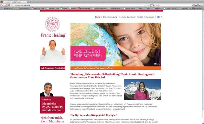 Webseite Energieheilung