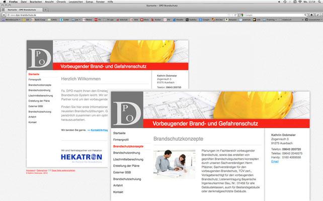 DPO Brandschutz-Systeme, Webseite