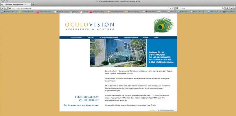 OculoVision, Web Design