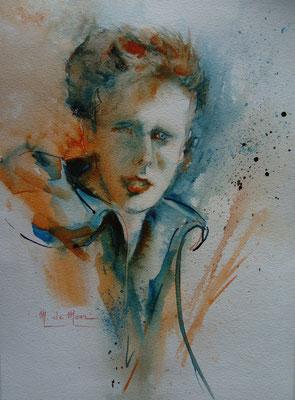 Portrait rêvé (aquarelle)
