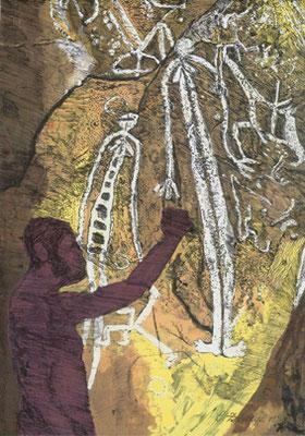 Ernst  Zdrahal - Neandertaler bei der Arbeit