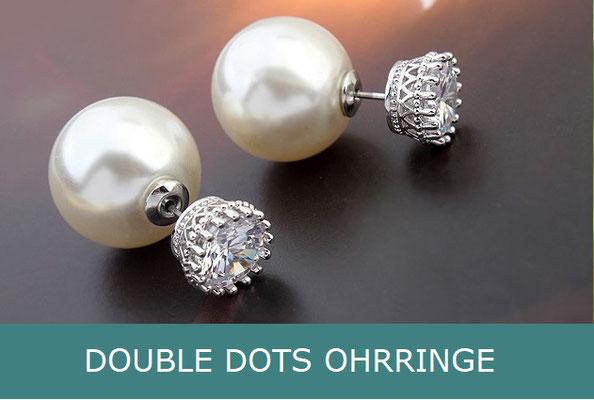 Double Dot Ohrringe / Doppel Perlen Ohrringe