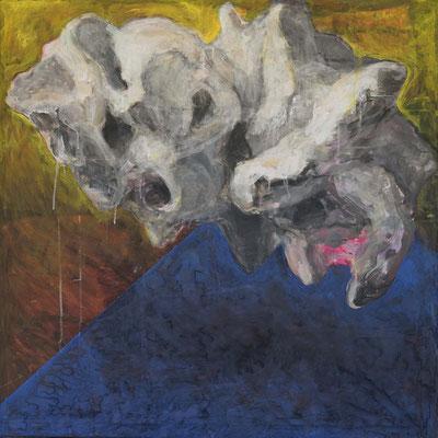 whale fall (84cm×84cm) material paper acrylic paints