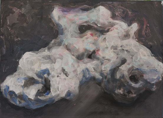 whale fall (41.5cm×56.5cm) material paper acrylic paints