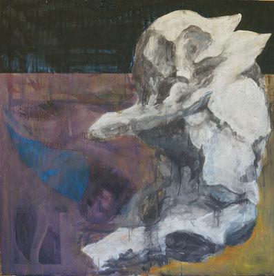 whale fall (124cm×124cm) material paper acrylic paints
